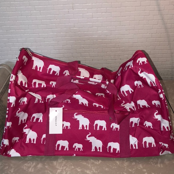 24c77b4e24 Pink Elephant Duffle Bag